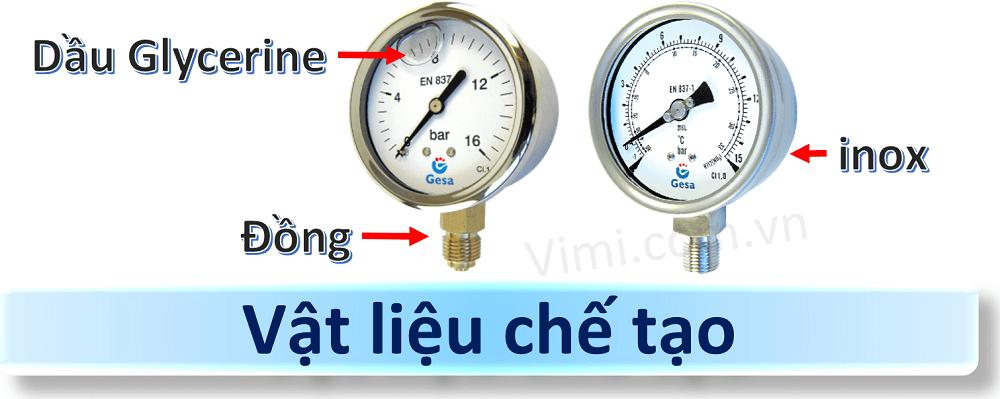 Đồng hồ đo áp suất gesa mặt 100mm 5