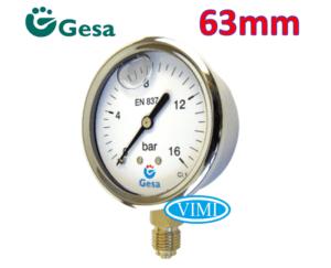 đồng hồ đo áp suất gesa mặt 63mm 2