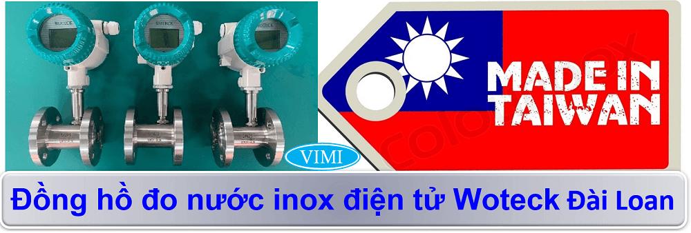 đồng hồ đo nước inox điện tử woteck 1
