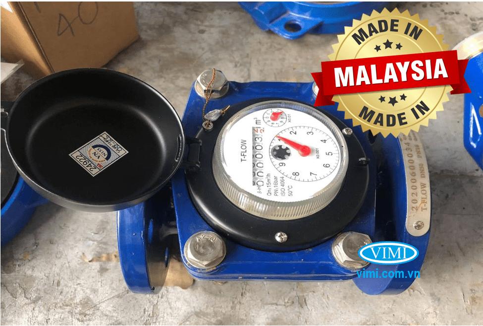Đồng hồ nước sạch T-Flow mặt bích được nhập khẩu nguyên chiếc từ Malaysia
