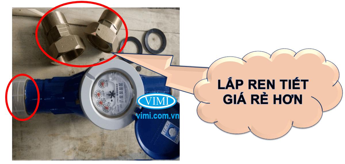 đồng hồ zenner nối ren giá thành rẻ hơn