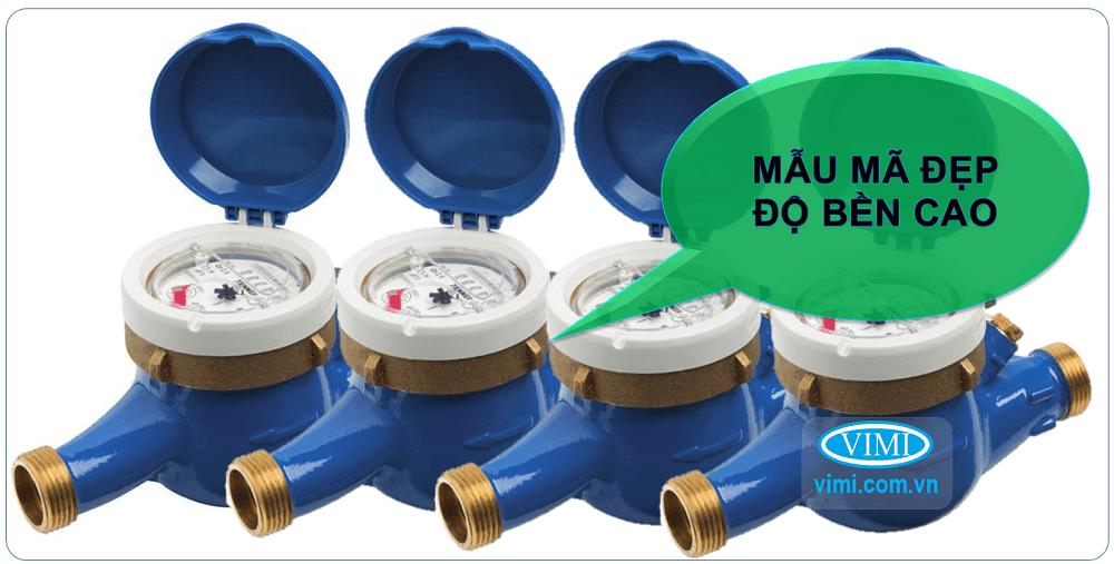 Đồng hồ nước Zenner lắp ren có thiết kế đẹp, bền bỉ