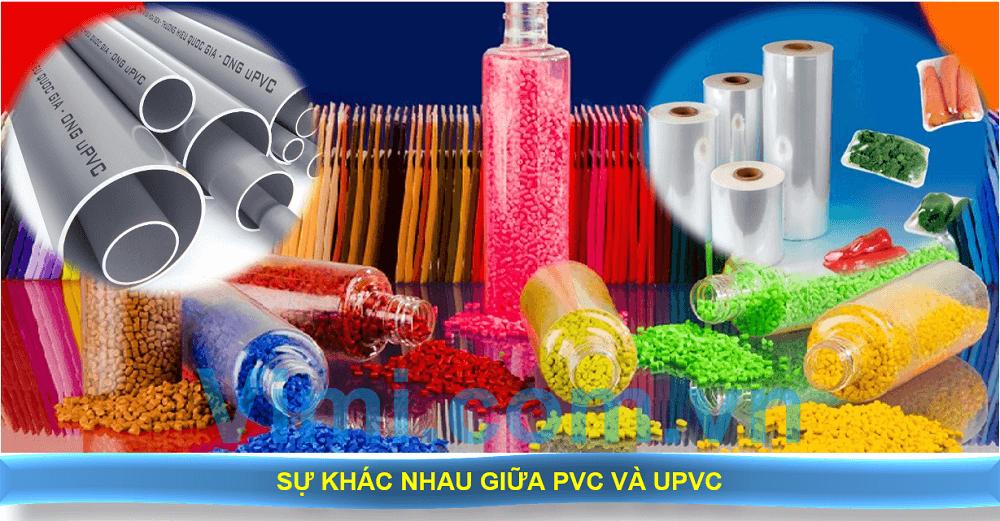 sự khác nhau giữa upvc và nhựa pvc là gì