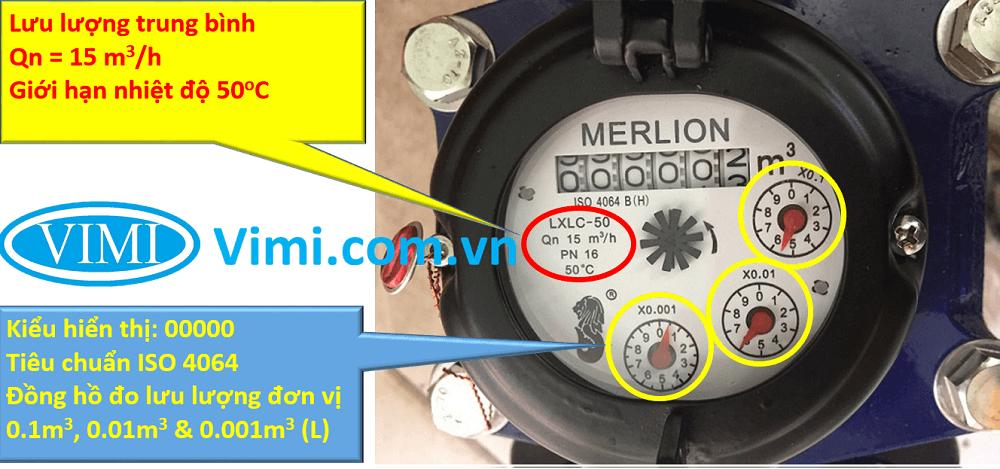 đồng hồ lưu lượng nước merlion mặt bích 05