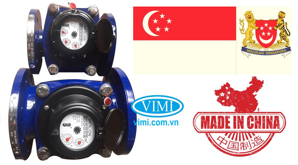 đồng hồ lưu lượng nước merlion mặt bích 08