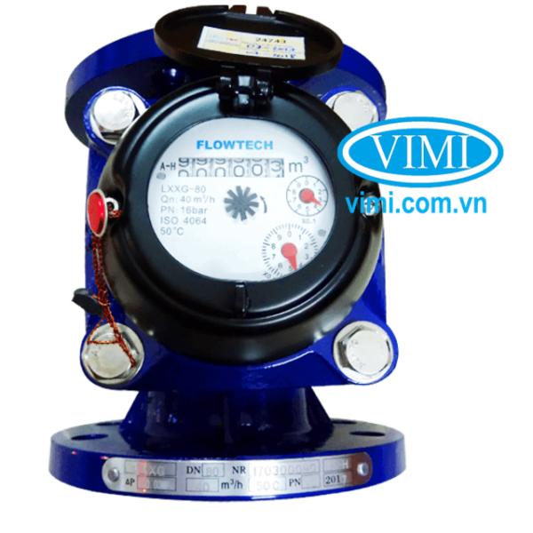 đồng hồ nước flowtech mặt bích 01