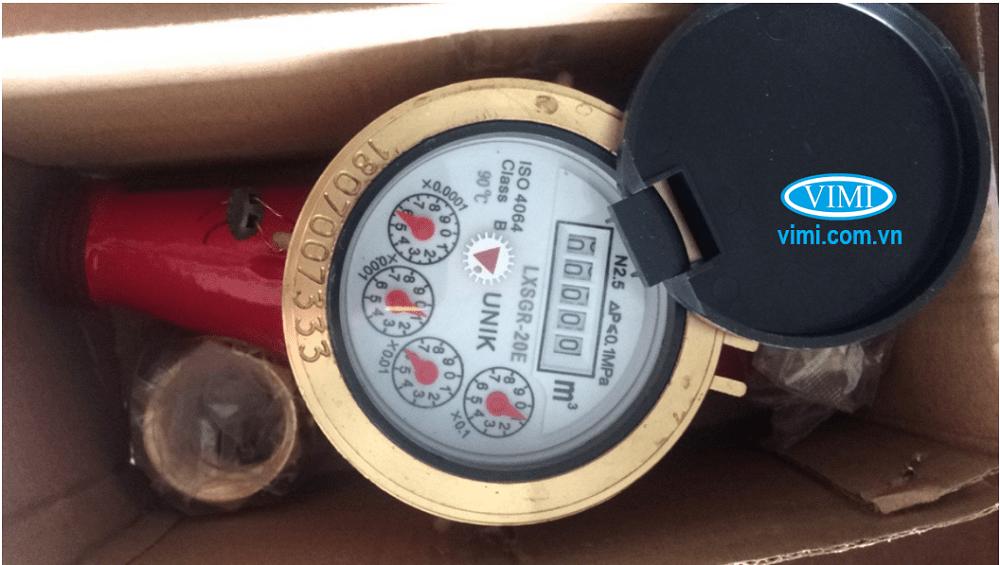 Đồng hồ nước nóng Unik làm việc với áp lực tối đa 16 bar