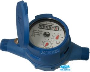 Đồng hồ nước sạch T-flow lắp ren 9