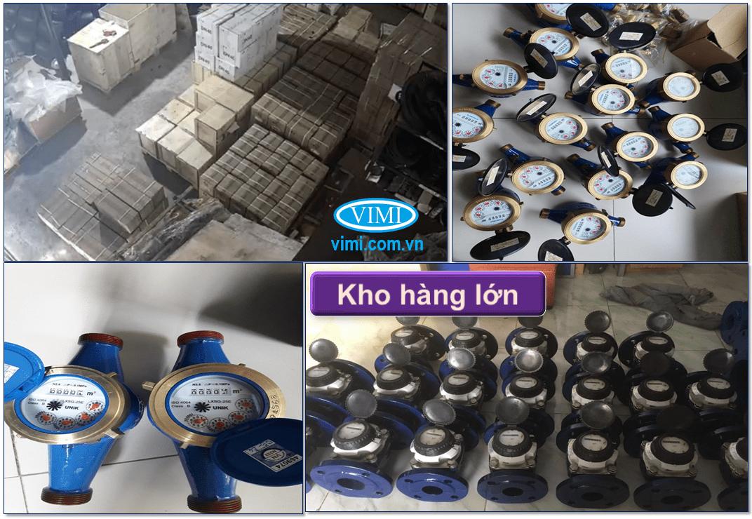 Kho hàng đồng hồ nước Unik nối ren có sẵn số lượng lớn