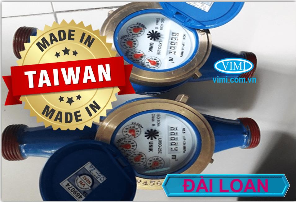 Đồng hồ nước Unik nối ren là mẫu đồng hồ Đài Loan chất lượng