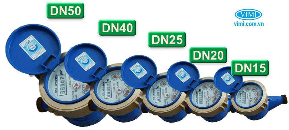 Đồng hồ nước Unik lắp ren đa dạng kích cỡ lựa chọn