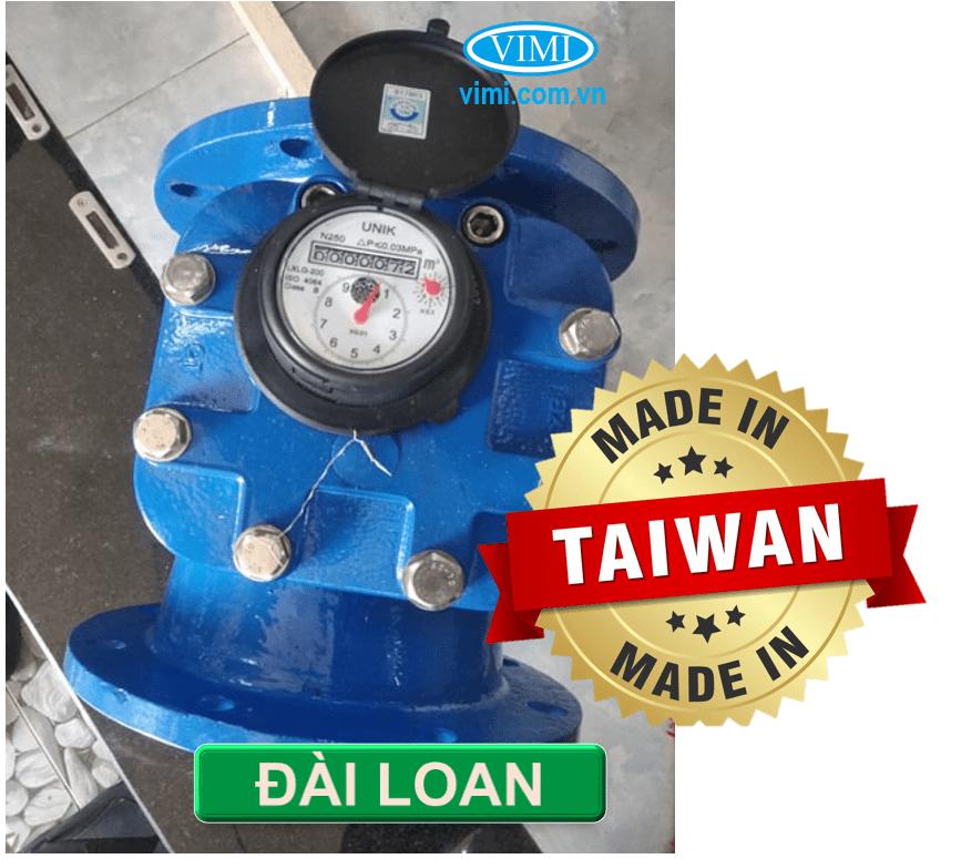 Đồng hồ nước Unik mặt bích có xuất xứ Đài Loan
