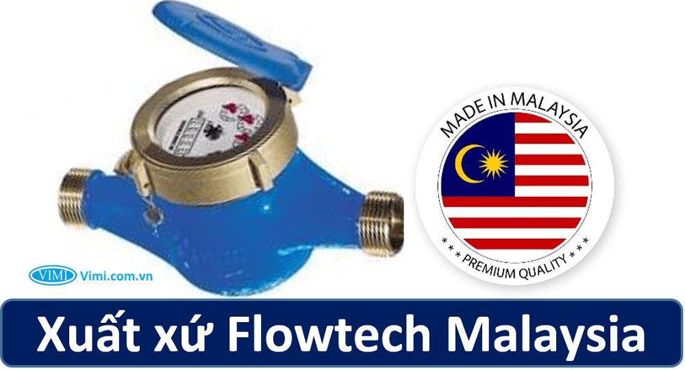 Đồng hồ nước flowtech nối ren 1