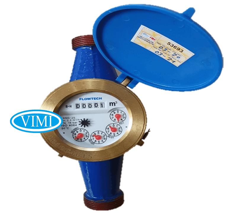 Đồng hồ nước flowtech nối ren 5