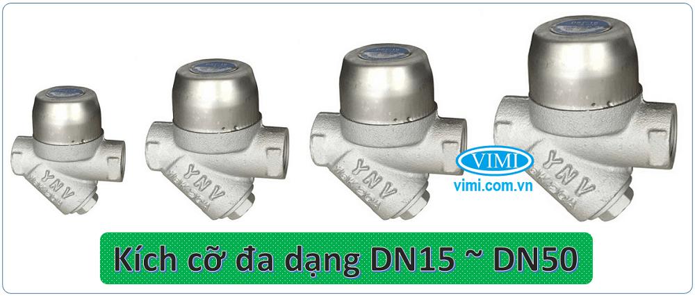 Sản phẩm đa dạng kích cỡ từ DN15 ~ DN50
