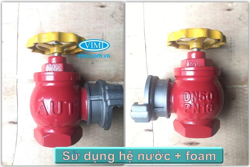 Có thể sử dụng cho hệ nước hoặc bọt foam chữa cháy