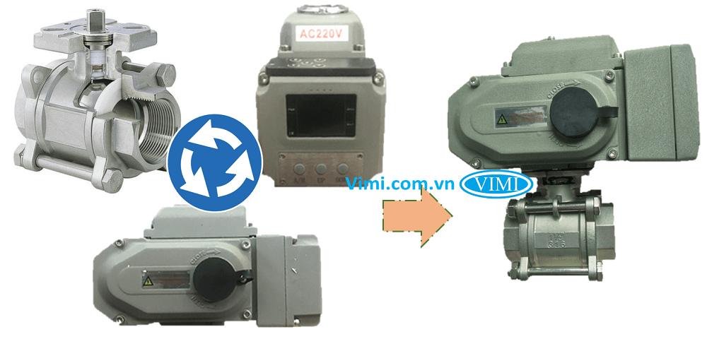 Van bi inox điều khiển điện tuyến tính Haitima 2