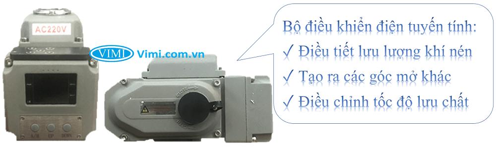 Van bi inox điều khiển điện tuyến tính Haitima 6