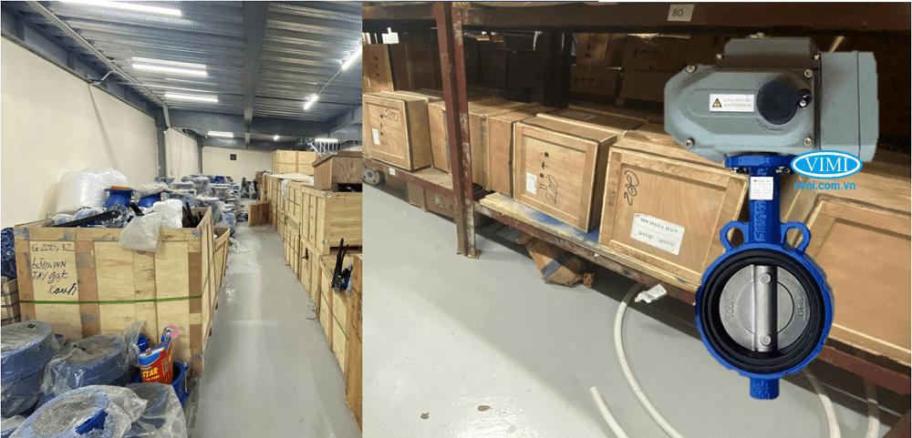 Van bướm gang điều khiển điện tuyến tính Haitima 2