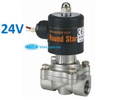 Van điện từ inox round star 24V 5