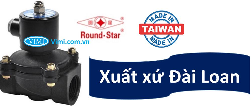 Van điện từ nhựa round star 24V 3