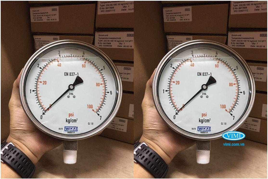kho đồng hồ áp suất Wika