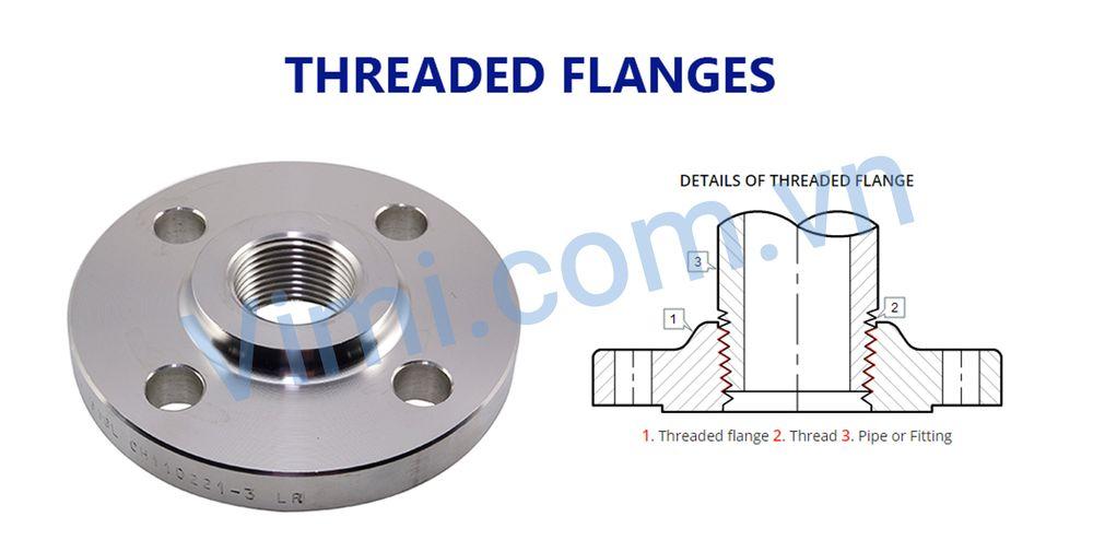 Mặt bích ren - Threaded flange (TF)