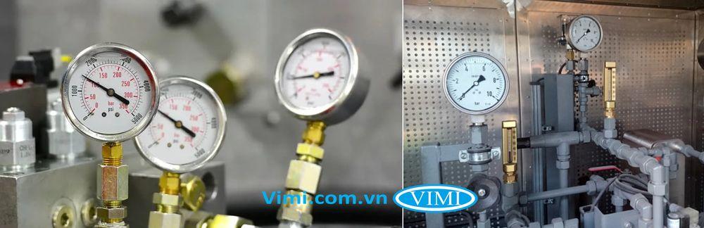 ứng dụng đồng hồ áp suất dầu