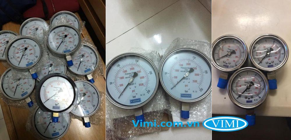 Đồng hồ áp suất inox Yamaki 2