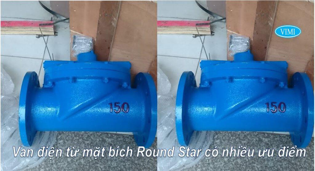 Ưu điểm của Van điện từ mặt bích Round Star gang