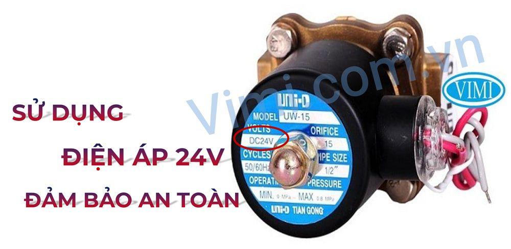 Van sử dụng điện áp 24V đảm bảo an toàn