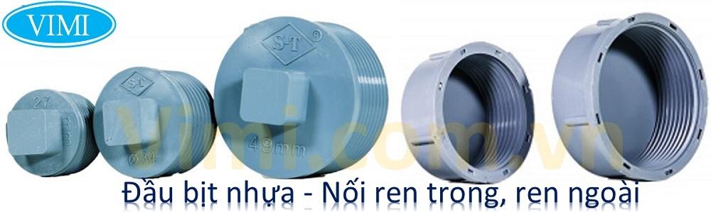 Đầu bịt nhựa ren ngoài - ren trong