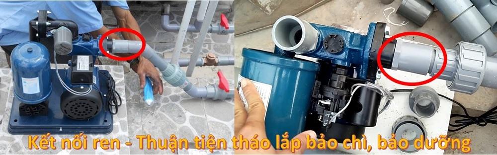 Nối ren nhựa dễ dàng lắp đặt, bảo trì
