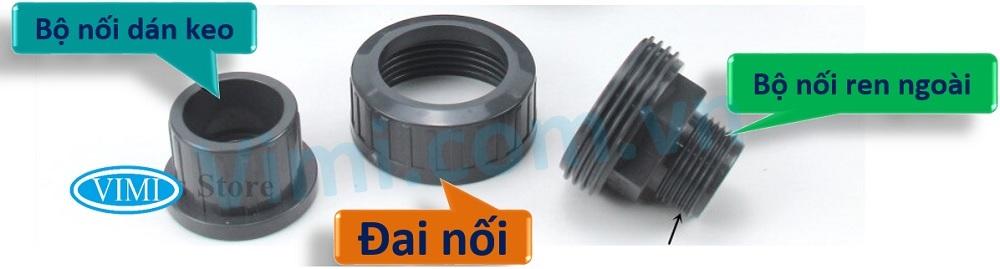 Công dụng - Cấu tạo zắc co nhựa uPVC đầu ren ngoài-dán keo