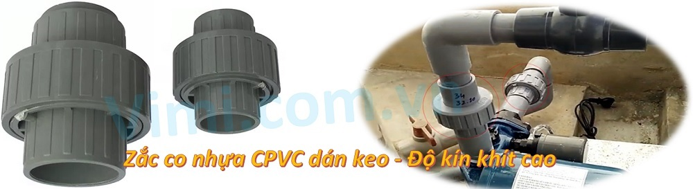 Zắc co nhựa CPVC - Kiểu dán keo